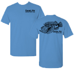 Scorpionfish T-shirt 100% Cotton, Carolina Blue